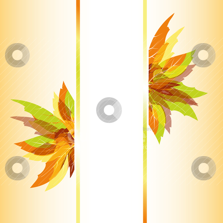 Abstract autumn leaves background stock vector clipart, Abstract colorful autumn maple leaves background by meikis