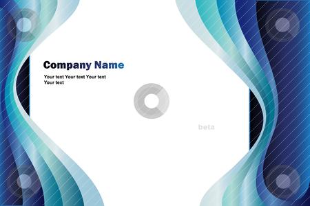 Blue business background stock vector clipart, Illustration vector by Ilenia Pagliarini
